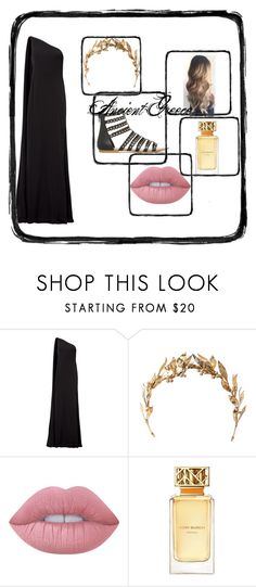 """""""Ancient Greece Party"""" by ellabella802 on Polyvore featuring KaufmanFranco, Lime Crime and Tory Burch"""