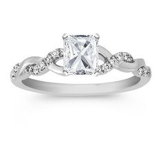I love how this engagement ring with the solitaire AND infinity band setting. @Lindsay Dillon Dillon Lee !! Just saying....