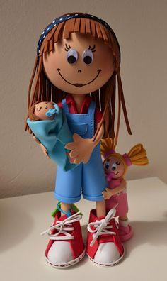 Muñecos personalizados hechos a mano con goma eva!!