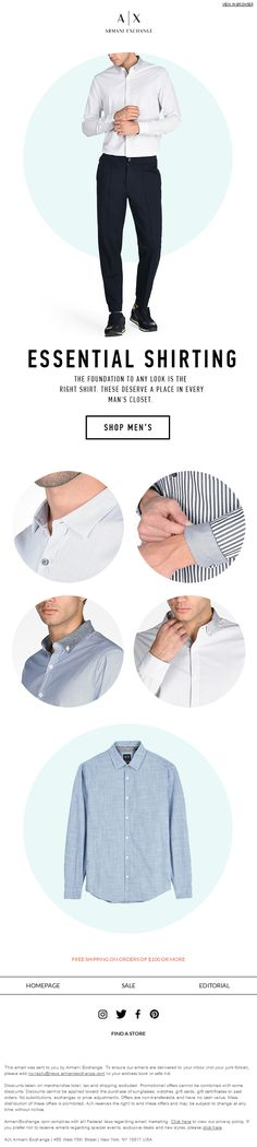 Shirts for men is a great passion since they never go out of fashion. From @armaniexchange