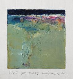 "oct302017 | Oct. 30, 2017 9 cm x 9 cm (app. 4"" x 4"") oil on … 