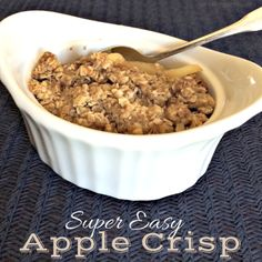 Super Easy Apple Crisp | RubysFrugalGems.com #typeaparent