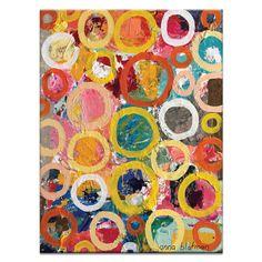 Circles 2 by Anna Blatman Painting Print on Canvas