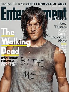 #TheWalkingDead is BACK and Norman Reedus is bringing you an exclusive preview: http://www.ew.com/article/2015/02/03/this-weeks-cover-norman-reedus-walking-dead