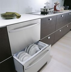 Energy efficient A rated drawer style dishwasher