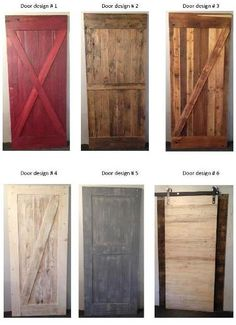 New Barn wood door designs from Prairie Barnwood... -- I would like a mix of style of #1 and color of #3