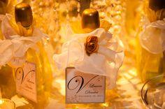Mini champagne bottles as favors