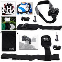 EEEKit 8in1 Accessories Kit for Sony Action Cam,HDR-AS20,AS100V,AZ1 Mini/GoPro Hero 4 3  3 2,Helmet Mount,Shoulder Belt/Wrist Strap and Release Plate * Continue to the product at the image link.