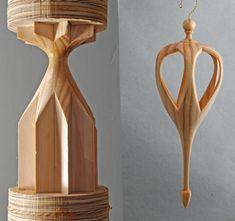 Onion ornament pair