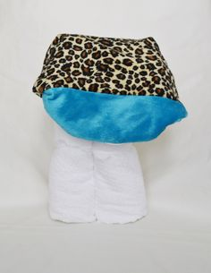 A personal favorite from my Etsy shop https://www.etsy.com/listing/199778768/cheetah-print-and-turquoise-minky-hooded