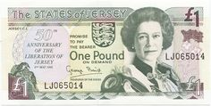 1 Pound 1995 (Gedenknote: 50 Jahre Befreiung Jerseys)