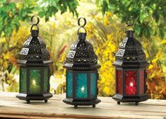 These Glass Moroccan Lanterns are so cool and have great reviews! Use them with tealight or votive candles to create a beautiful illuminated light. Set it on a mantle or hang from the ceiling, your choice! These all ship for ...