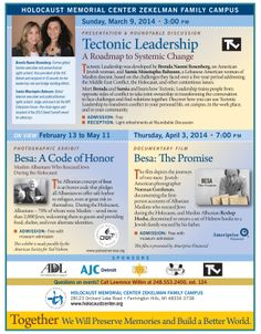 The Voice/Vision Archive is pleased to be a co-sponsor of this wonderful program, exhibit, and film! Holocaust Memorial, American Women, Exhibit, The Voice, Leadership, Archive, Presentation, Challenges, Memories