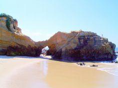 ... Through the arch is Woods Cove Laguna Beach California   by moondoggie71