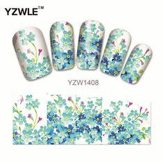 YZWLE 1 Sheet Chic Flower Nail Art Water Decals Transfer Stickers Splendid Water Decals Sticker(YZW-1408)