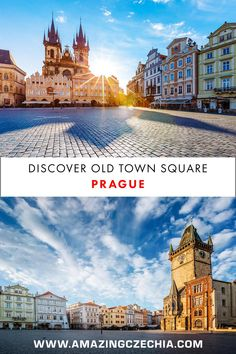 Old Town Square, Prague - Discover the Beauty of Czechia's Golden City Prague Old Town, Prague Castle, Charles Bridge, Central Square, Old Town Square, Capital City, Great Places, Travel Destinations, Wanderlust