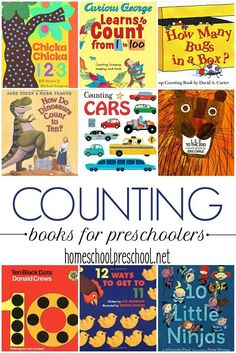 Encourage your little ones to practice counting with these counting books for preschoolers. This is a great way to engage your little ones. | homeschoolpreschool.net via @homeschlprek