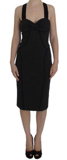 a5672ed9613 Ermanno Scervino Gray Sheath Stretch Knee Length Dress Sheath Dress. Peplum  Dress