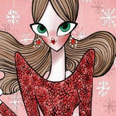 This is a surprise ❤️ #fashion #fashionillustration #illustration #fashiondesign #georginachavez #art #holiday #christmas