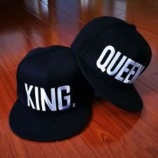 Adjustable Letter King And Queen Hat Baseball Cap Hats Hip Hop Lovers Snapback #brand #baseball #brands #product #caps #cap #headgear #font #products #hats #fonts #hat #girl #boy #love #girlfriend