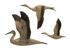 Reeds Migration Wood Wall Décor - Set of 3 50895-3