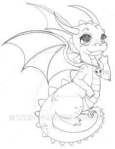Chibi Dragon Sketch by YamPuff on DeviantArt Cute Dragon Drawing, Dragon Sketch, Chibi, Art Drawings Sketches, Animal Drawings, Fantasy Creatures, Mythical Creatures, Baby Dragon Tattoos, Disneysea Tokyo