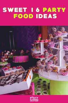 You've got guests coming for the fun, but now you need to figure out the food! Choosing the menu is one of the most important party planning steps. If you're unsure of what to offer and how to go about deciding, our comprehensive guide is here to help. #partyfood #sweet16partyideas #sweetsixteenpartyideas #partyideas #partyplanning