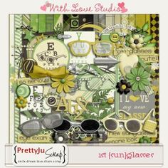 1st glasses kit digital scrapbooking kit from Pretty Ju Scraps, perfect for documenting your everyday life on your scrappy layouts.