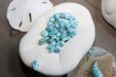 Dominican Larimar Beads Nuggets Jewelry Supplies by Amorco on Etsy