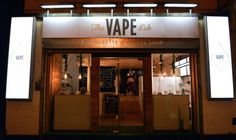 Vape Lab is the home of London's first e-cigarette coffee shop where multiple varieties and flavors of both the electronic cigarettes and java will be offered-- and now a cocktail bar... Oh gonna go here!