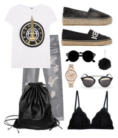 """""""i'm wearing Kenzo"""" by laugarcini on Polyvore featuring One Teaspoon, Kenzo, Topshop, Retrò, Cosabella, D-ID and Xenab Lone"""