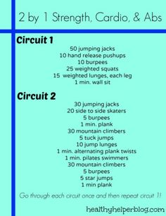 The Ultimate Strength Workout Round-Up - 28 pinnable workouts in one post including this Cardio/strength/Abs workout. #FitFluential More Cardio And Abs, Strength Cardio Abs Workout, Workout Ideas, 2By1Workout Jpg, Snacks 2 0, Abs Circuit, 2By1Workoutjpgjpg 12501624, Health Fit, Circuit Workout #Health #Fitness a great circuit workout from healthyhelperblog.com Strenght, cardio, and abs circuit tons of workout ideas