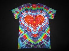 AS26 Tie Dye Heart Shirt Size Men's Small by PsychedelicTieDyes, $25.00