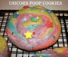 unicorn poop cookies. i should have had kids so i could make these. maybe i will make them anyway.