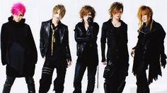 The GazettE - from left to right: Aoi, Reita, Ruki, Kai, and Uruha
