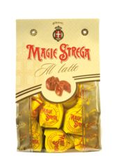 These savory cream truffles are infused with Strega liqueur and blanketed in delicious milk chocolate. **Please note, must be 21 years of age or older to purchase this item** 250 grams Albertis Magie chocolates with Strega.