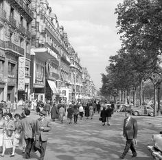 Champs Elysees Paris in the 50s