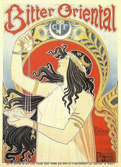 Henri Privat-Livemont (1861 - 1936) / Bitter Oriental, 1899