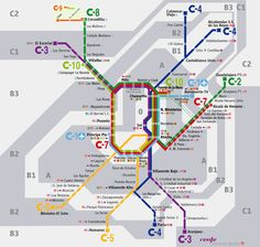 Renfe - Plano de Cercanías Madrid