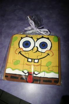 Spongebob Reversible Handcrafted Kids Puzzle Unique by EfnEfsShop, $25.00