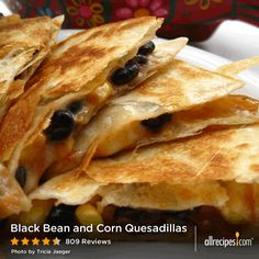 Black Bean and Corn Quesadillas | These black bean and corn ...