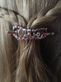 love hair clip, perfect Valentine's Day gift idea!