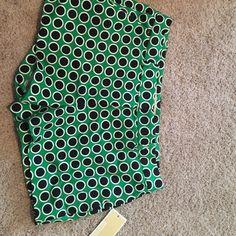 Michael Kors green polka dotted shorts size 4 Never worn with tags green polka dotted Michael Kors shorts Michael Kors Shorts