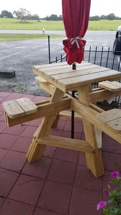 Open Box (never used) - Hi - top picnic table(s). Bar height picnic table with four attached individual stools. Well made and sturdy. picnic table ideas Home & garden for Sale in Florida - OfferUp Wood Pallet Furniture, Bar Furniture, Furniture Plans, Wood Pallets, Furniture Outlet, Furniture Projects, Diy Picnic Table, Picnic Table Plans, Diy Table
