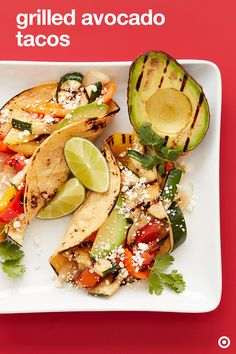 Our affinity for avocado knows no bounds—grab a few to make this delicious meatless recipe for your summer celebrations. Not only do you grill the veggies but also the avocado. It's a must try. Once the veggies and avocado are cooked to perfection, slice them onto some warm tortillas. Top with some lime, cheese and cilantro. These Grilled Avocado Veggie Tacos will easily be your new summer favorite.