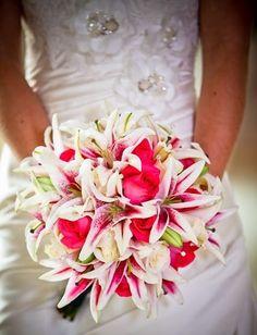 Roses & Stargazer Lilies