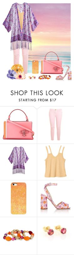 """Purple, Orange & Pink"" by savousepate ❤ liked on Polyvore featuring Isharya, Emilio Pucci, Current/Elliott, RVCA, Prada and Erica Lyons"