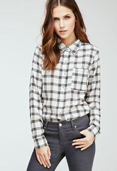 Plaid Button-Down Shirt | Forever 21 - 2052287952