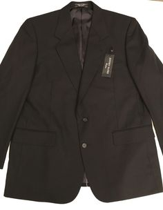 ce333e7bb1751d New JEFFREY BANKS Couture Black Wool Suit 42R PANTS Sz 40 Flat Front  Gleason #fashion #clothing #shoes #accessories #mensclothing  #suitssuitseparates (ebay ...