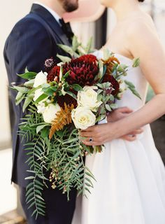 Beautiful bouquet: http://www.stylemepretty.com/2015/03/18/fall-seattle-rooftop-wedding/ | Photography: O'Malley - http://www.omalleyphotographers.com/
